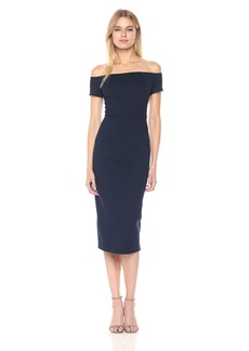 Trina Turk Women's Candellyn Ponte Off The Shoulder Midi Dress