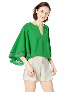 Trina Turk Women's Carry On Batwing Fringe Top
