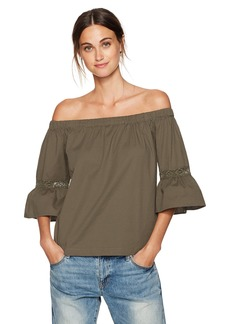 Trina Turk Women's Castro Dobby Shirting Off The Shoulder Top  S
