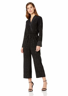 Trina Turk Women's Celebration Beaded Drawstring Jumpsuit