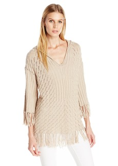 Trina Turk Women's Cleo Pima Cotton Hooded Sweater