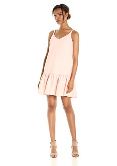 Trina Turk Women's Conservatory Classic Crepe Drop Flounce Dress