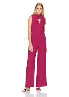 Trina Turk Women's Contessa Twist Keyhole Neck Jumpsuit