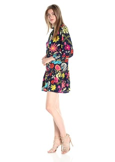 Trina Turk Women's Corozone La Habana Jardine Crepe Dechine Dress  M