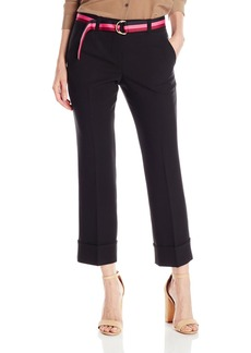 Trina Turk Women's Dashing Cropped and Cuffed Luxe Drape Pant