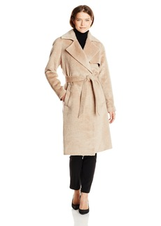 Trina Turk Women's Delaney Long Wool Wrap Coat