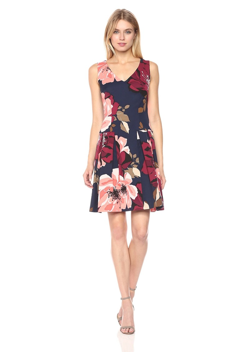 Trina Turk Women's Devoted Botanical Medley Faille Printed Dress