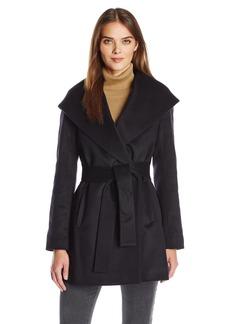 Trina Turk Women's Emma Wool Blend Wrap Coat with Tie Belt