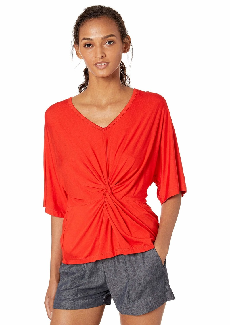 Trina Turk Women's Etta Twist Front V Neck Top