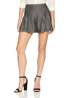Trina Turk Women's Evette  Crosshatch Chambray Short