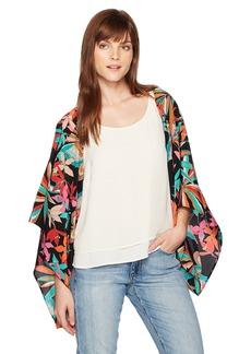 Trina Turk Women's Exquisite Papillion Palm Shrug Jacket  XS/S