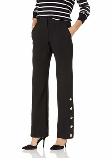 Trina Turk Women's Fete Gold Button Detailed Pant