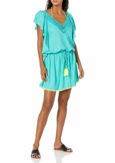 Trina Turk Women's Flutter Sleeve Tunic Swimwear Cover Up