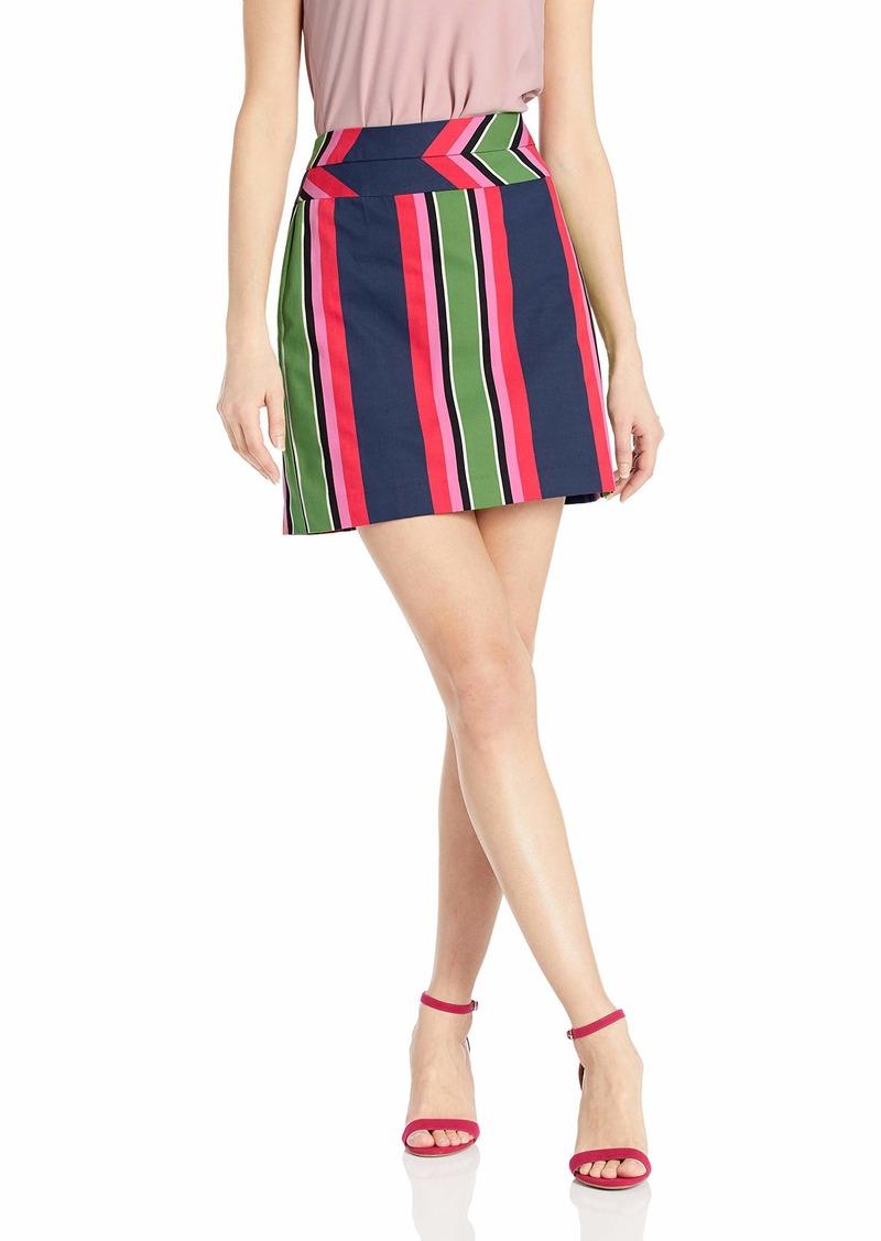 Trina Turk Women's Free Time Stripe Mini Skirt Portofino