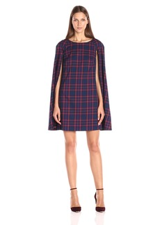 Trina Turk Women's gizela Modern Tartan Plaid Cape Dress