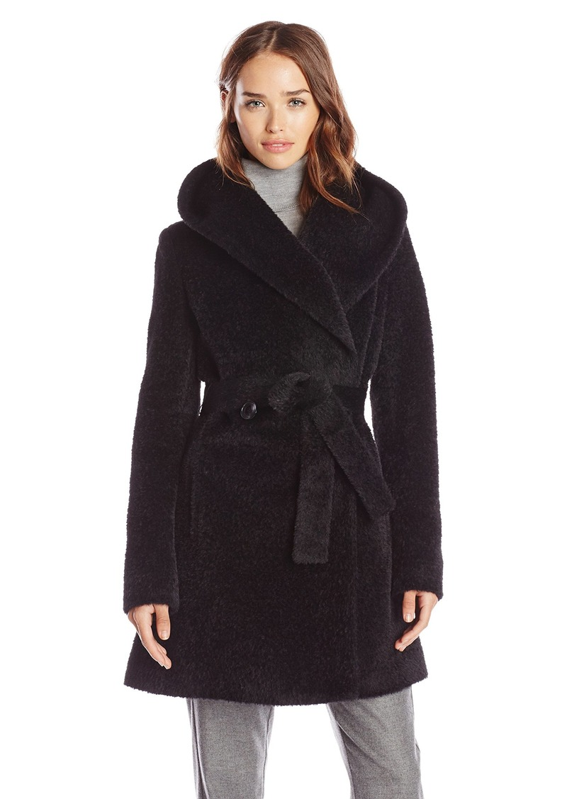 Trina Turk Women's Grace Wool-Blend Belted Wrap Coat