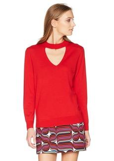 Trina Turk Women's Graham Sweater Pagoda red Extra Large
