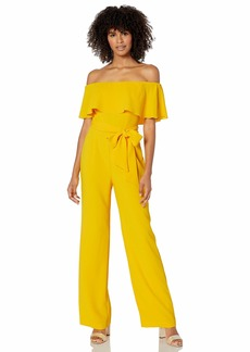 Trina Turk Women's Guests Off The Shoulder Jumpsuit