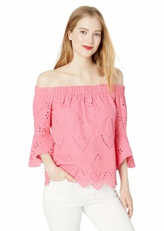 Trina Turk Women's Healdsburg Lace Off The Shoulder Top