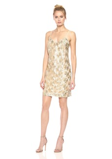 Trina Turk Women's Highlight Gilded Flower Mesh Dress