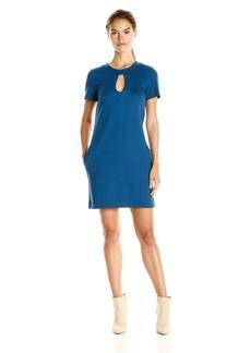 Trina Turk Women's in Clover Tropical Ponte Short Sleeve Dress