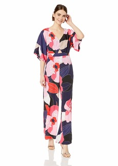 Trina Turk Women's International Cutout Full Leg Jumpsuit Narcissus CDC
