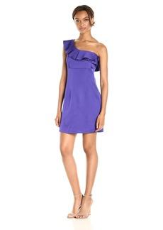 Trina Turk Women's Intrigue One Shoulder Ruffle Dress