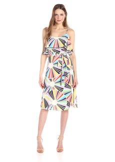 Trina Turk Women's Isabel Coppelia Print Tie Waist Crepe De Chine Dress