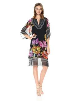 Trina Turk Women's Joceline Dahlia Dell Placed Kaftan Print Dress
