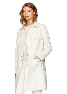 Trina Turk Women's Jones Patent Tweed Topper Coat