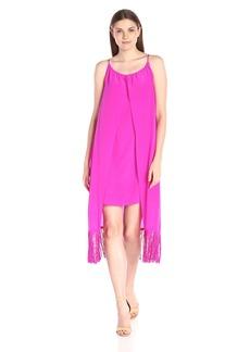 Trina Turk Women's Kearney Silk Crepe De Chine Fringe Dress