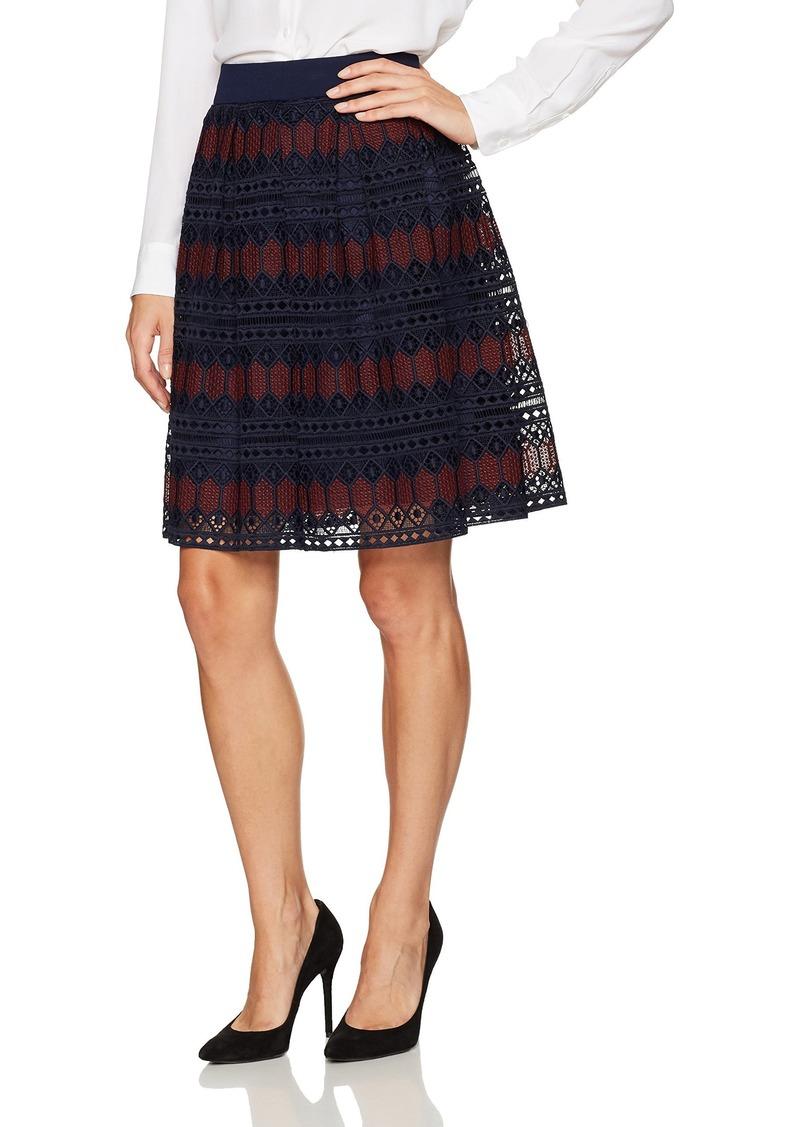 Trina Turk Women's Leland Diamond Lane Lace Skirt