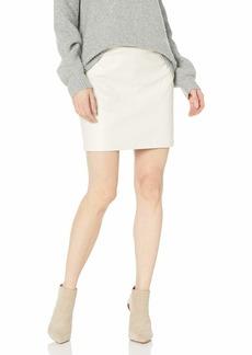 Trina Turk Women's Lianas Top Stitched Leatherette Skirt