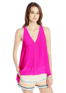 Trina Turk Women's Lodi Silk Crepe De Chine Sleeveless Top