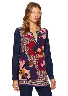 Trina Turk Women's Lotta Fairfax Floral Placed Print Tunic  L