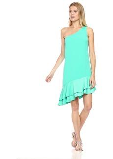 Trina Turk Women's Lunaria One Shoulder Asymmetrical Dress