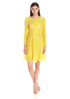 Trina Turk Women's Lyn Gypsetter Lace Bell Sleeve Dress