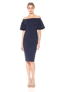Trina Turk Women's Magnificent Off The Shoulder Ruffle Dress
