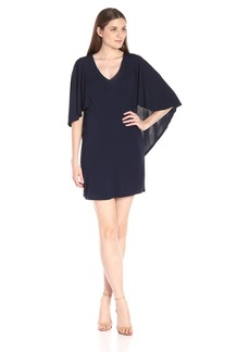 Trina Turk Women's Marino Matte Jersey Cape Dress
