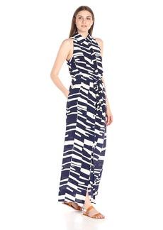 Trina Turk Women's Marisole Bazaar Abstract Silk Crepe De Chine Maxi Shirtdress