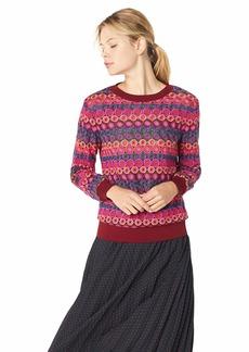 Trina Turk Women's Marita Crewneck Sweatshirt Meridian mesh Extra Large