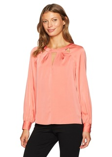 Trina Turk Women's Maritsa Essential Silk Cutout Top  M