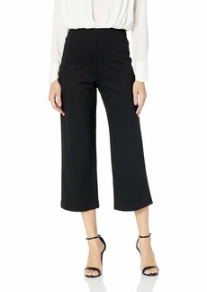 Trina Turk Women's Media Pull On Wide Cropped Pant blackk
