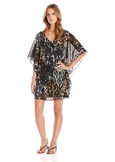 Trina Turk Women's Megan Cheebra Print Silk Georgette Dress