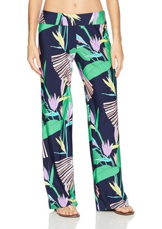 Trina Turk Women's Midnight Paradise Roll Top Wide Leg Pant  S