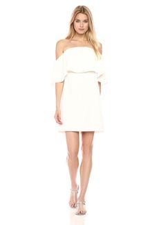 Trina Turk Women's Mirador Off The Shoulder Dress White wash