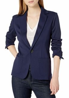 Trina Turk Women's Morro Single Button Ponte Blazer