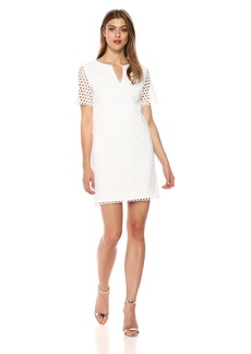 Trina Turk Women's Museum Classic Short Sleeve Shift Dress