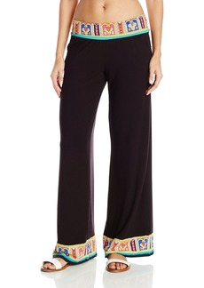 Trina Turk Women's Nepal Roll Top Wide Leg Pant Cover up  M