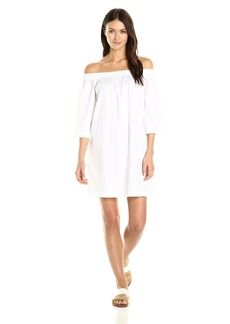 Trina Turk Women's Neville 2 Shirting Off the Shoulder Dress  XS